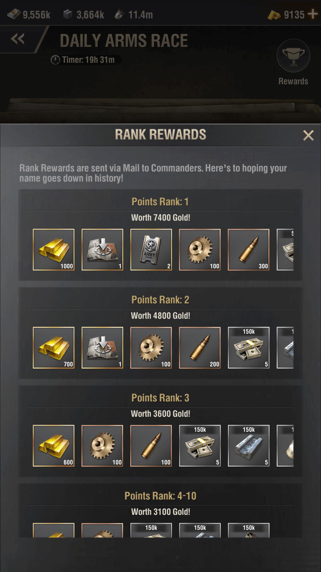 warpath arms race event screenshot 3