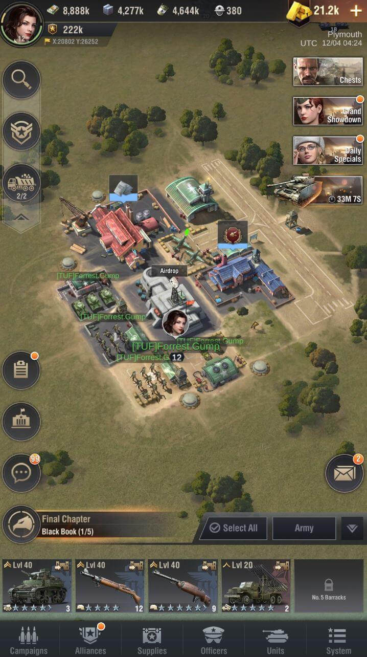 warpath game interface